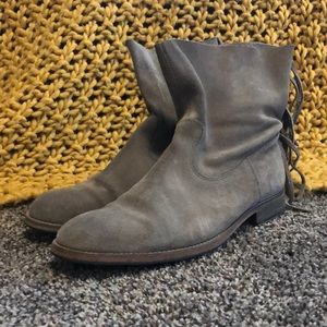 Make an offer!: Gray Suede HTC Booties